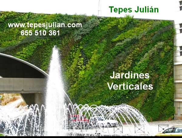 Espacios verdes con jardines verticales tepes juli n - Jardines verticales exterior ...