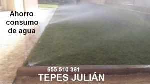 Consumo de agua del césped natural